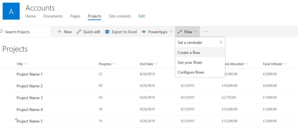 Export SharePoint List items as CSV using Microsoft Flow
